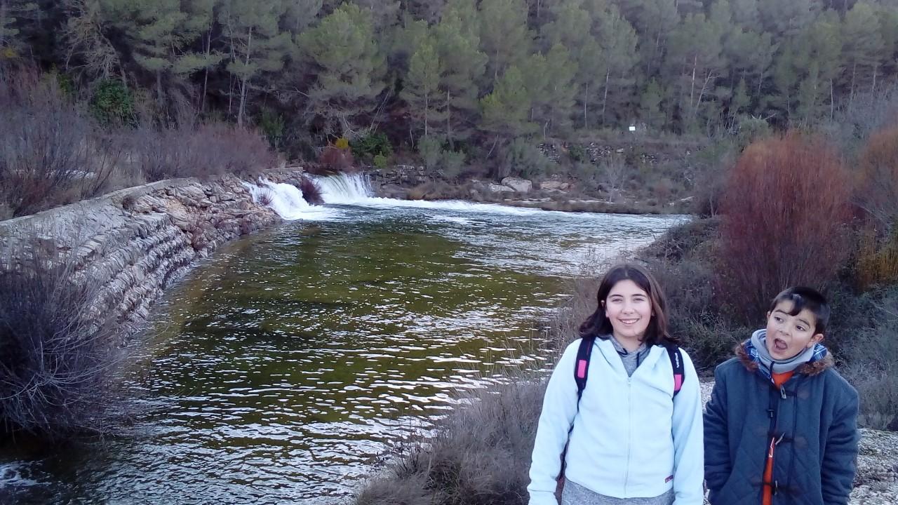 El rio Algars en invierno.