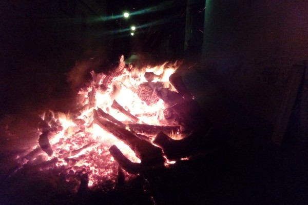 foguera encesa